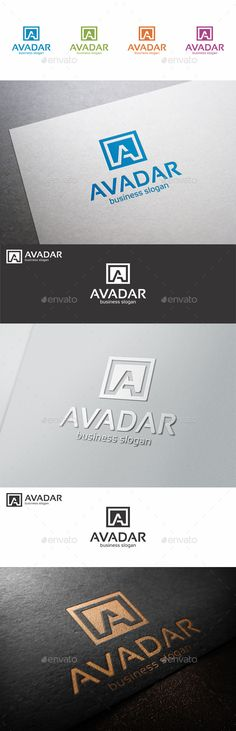A Letter Logo Shape Avadar — Vector EPS #web #blue • Available here → https://graphicriver.net/item/a-letter-logo-shape-avadar/10394213?ref=pxcr