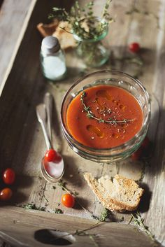 Roasted tomato soup via Honey & Jam