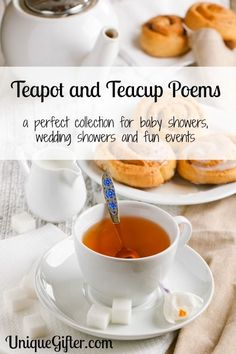 Teapot and Teacup poems - a perfect collection for baby showers, wedding showers and fun events. Bingo, Tea And Crumpets, Tea Quotes, Tea Party Theme, Afternoon Tea Parties, Cuppa Tea, Tea Sandwiches, Christmas Tea, My Cup Of Tea