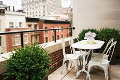 Outdoors in the city. This is how I want my boyfriend's terrace to look. Wish me luck. Sincerely, JoAnne Craft