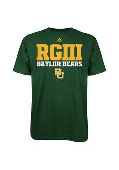 Baylor Bears Adidas Mens Green RGIII T-Shirt http://www.rallyhouse.com/shop/baylor-bears-adidas-baylor-bears-adidas-mens-green-rgiii-tshirt-14859804 $22.99