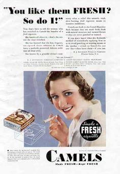 Camel Cigarettes - aimed at Nurses (1932)