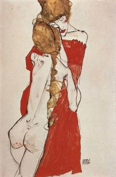 Egon Schiele - Mother and Daughter (1913)