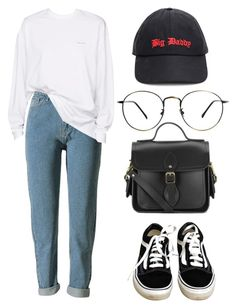 """Untitled #27"" by jongkooki ❤ liked on Polyvore featuring Vans, Vetements and The Cambridge Satchel Company"