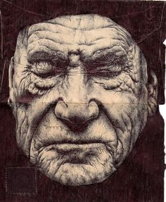 Mark Powell - pen drawings on mail