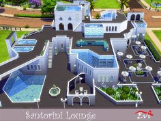 This Lounge Cafe and Cocktail Bar which actually looks like a labyrinth with its different level pools, stairs and arches can be located into your sims4 game if you wish. Its privileged location...
