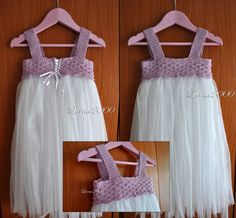 #tutu #dress with #crocheted top