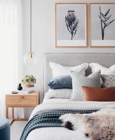 Bedroom Inspo The bedroom of - Architecture and Home Decor - Bedroom - Bathroom - Kitchen And Living Room Interior Design Decorating Ideas - Trendy Bedroom, Cozy Bedroom, Bedroom Inspo, Home Decor Bedroom, Master Bedroom, Scandi Bedroom, Art For Bedroom, Bedroom Neutral, Bedroom Inspiration