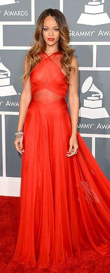 Rihanna in Azzedine Alaia at 2013 Grammy Awards