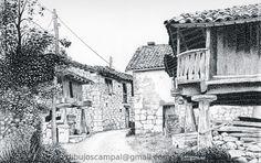 Amieva. Colección paisajes a plumilla. Año 1999