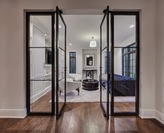 Weldwork is a team of custom door and metal fabrication masters that juxtapose the timeless aesthetic of metal doors with modern hardware and innovative production techniques. Luxury Interior, Interior Design, Iron Doors, French Cottage, Steel Doors, Exterior Doors, Home Fashion, Luxury Homes, Living Spaces