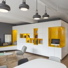 meuble tv design gris et blanc laqué | tvs, deco and design - Meuble Tv Sur Mesure Design