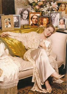 Meryl with pictures in many of her roles.
