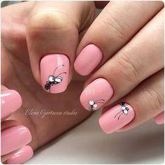 Pretty Clever Nail Designs and Colors - Nails 03 Nail Manicure, Gel Nails, Acrylic Nails, Pink Nails, Fancy Nails, Trendy Nails, Cute Nail Art, Cute Nails, Smart Nails