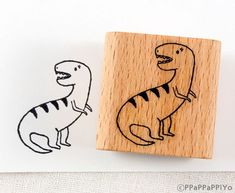 40% OFF SALE Dinosaur Rubber Stamp