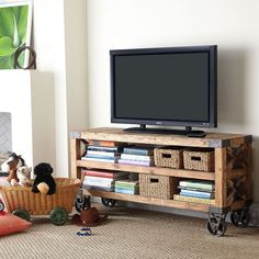 Most often, TVs are placed on a stand and it's not because of the tradition but because it's simply practical to save a piece of furniture that serves two purposes #tvstand #standfortv #homeideas