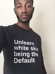 """""""Unlearn white skin being the default""""  Follow this link to find a short video that contemplates other ways in which whiteness is treated as a default: http://www.thesociologicalcinema.com/videos/that-smiling-emoji-you-just-texted-is-racist  Source: dicksandwhiches, on Tumblr (http://dicksandwhiches.tumblr.com/post/129716015902)"""