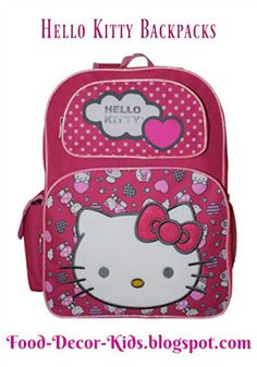 6cb8c7e50f Hello Kitty backpacks and Hello Kitty lunch bags for Hello Kitty lovers and  children who need a school backpack.
