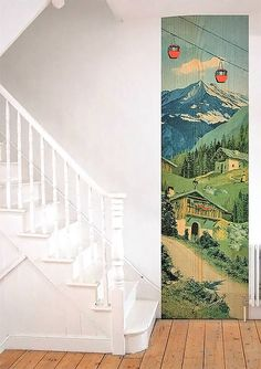 I'm kind of in love with this wallpaper strip by Madame Chalet via Handmade Charlotte.