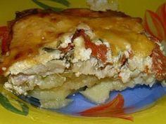 Kick-ass delicious potato gratin with fish Fish Dishes, Seafood Dishes, Tasty Dishes, Potato Dishes, Fish Recipes, My Recipes, Good Food, Yummy Food, Healthy Food