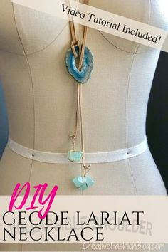 Make your own boho DIY Lariat necklace with this quick and easy jewelry making tutorial. This written and video tutorial walks you through each step. Diy Jewelry Necklace, Lariat Necklace, Wire Jewelry, Boho Jewelry, Beaded Jewelry, Jewelry Design, Statement Jewelry, Fashion Jewelry, Jewelry Ideas