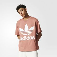 e0e08a568cd8b adidas - Boxy Tee Adidas Originals Mens, Pink Adidas, Mens Fashion, Cotton,