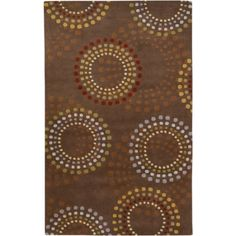 Art of Knot Dallas Hand Tufted Wool Area Rug, 5' x 8', Brown