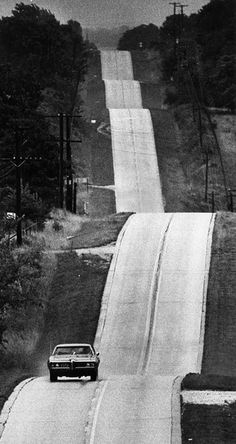 Miles of empty rolling hills are crossed by old Route 66 west of Springfield, Missouri. The route designation had been changed to Missouri 266 by the time this photo was taken, June Photo by Bill Varie for the Los Angeles Times. Old Route 66, Route 66 Road Trip, Historic Route 66, Travel Route, The Road, Ps Wallpaper, Le Cap, Street Bob, Art Corner