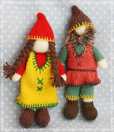 Knitted Pocket Pals The Gnomes - Free Pattern - PDF Download