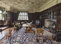 The Drawing Room at Gawthorpe Hall, Lancashire.
