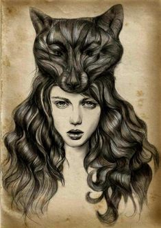 have been sketching lately, and love the way the hair is in this one.... reminds me of a little of Red Riding Hood story