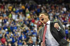 University of Kansas Jayhawks Coach, Bill Self after an incredible comeback to win. KU 63, Prudue 60  WE ARE KANSAS! by pkhartz