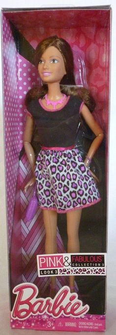 2013 BARBIE TERESA PINK & FABULOUS COLLECTION 3 LOOK 3 ANIMAL PRINT CHJ63 *new* | eBay