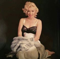 Marilyn. Evening dress sitting. Photo by Milton Greene, 1953.