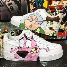 Dog Force Air The Cowardly Sneakers custom Nike Custom