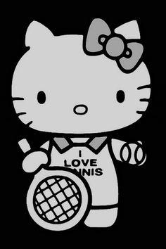 I love tennis (and Hello Kitty).