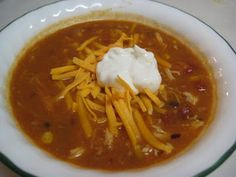 Crock pot chicken tortilla soup // I REALLY want to make this for dinner tonight, but Collin & Alexa are making homemade pizza.