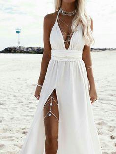 Hele Leg Chain - - Hele – Coins Leg Chain – Riviera Coco Source by Cute Wedding Dress, Dream Wedding Dresses, Prom Dresses, Wedding Beach, Beach Wedding Jewelry, Sexy Reception Dress, White Sundress Wedding, Prom Jewelry, Gold Jewellery