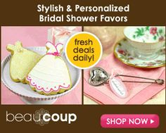 Shop a never ending selection of great bridal shower favors and DIY supply's and be sure to check out the cool videos and blog spot.