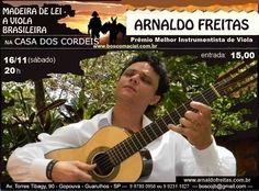 """Show """"Madeira de lei - Viola caipira"""" na Casa dos Cordéis"""