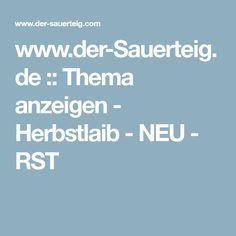 www.der-Sauerteig.de :: Thema anzeigen - Herbstlaib - NEU - RST