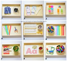 Montessori-Inspired Learning activities for 28 months toddler and older. Montessori-Inspired Learning activities for 28 months toddler and older. Montessori Trays, Montessori Preschool, Montessori Education, Montessori Materials, Montessori Room, Baby Education, Montessori Elementary, History Education, Teaching History