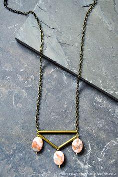 Minted Strawberry: DIY: Stone and Brass Boho Necklace