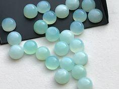WHOLESALE 10 Pcs 12mm Blue Opal Cabochon Lot by gemsforjewels
