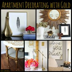 Many trends come and go, but a classic that's here to stay is decorating with gold. Add touches of gold to your apartment with these renter friendly tips!