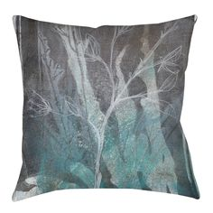 Ombre Wildflowers 4 Printed Throw Pillow