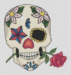 Sugar Skull Cross Stitch Pattern