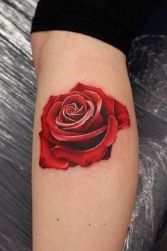 "Check out this BEAUTIFUL 3D "" ROSE TATTOO "" by Artist Michelle Madison."
