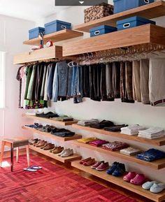 blog de decoração - Arquitrecos: Armários (ou closets) sem portas. Charmosos e descomplicados + Pesquisa de Mercado Arquitrecos