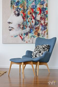 Lounge room property styling, bold artwork  #propertystyling #homestyling #interiordecorating #furniture
